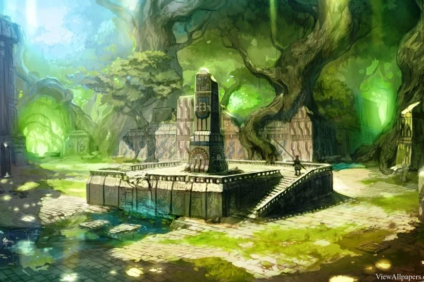 Anime Lost City Wallpaper