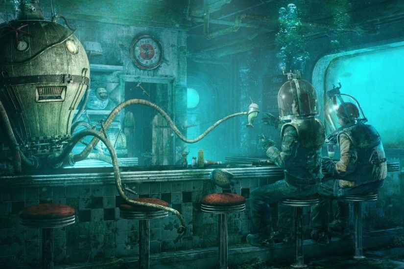 Sci Fi - Fantasy Underwater People Sci Fi Wallpaper