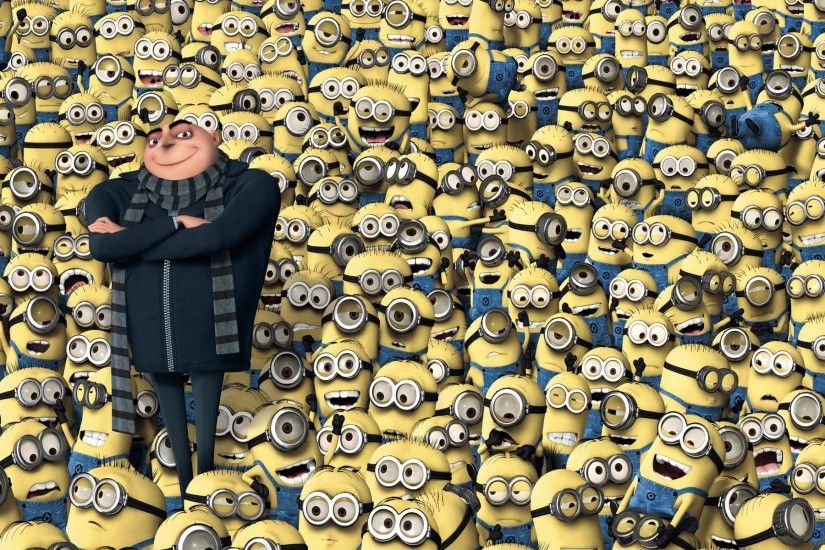 despicable me minion birthday party gru with many minions wallpaper