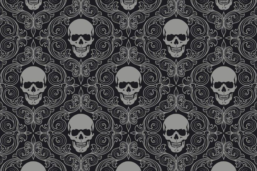 horror, pattern,blue, skulls, windows desktop images,dark, view amazing