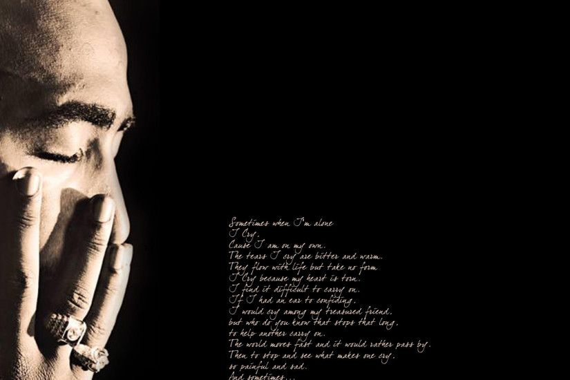 Preview wallpaper 2pac, poems, thouts, fingers, light 1920x1080