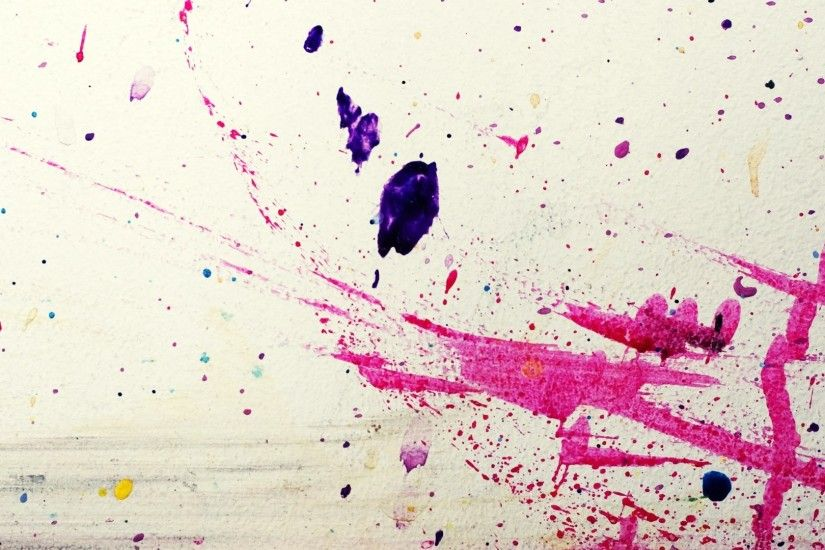 Abstract Splatter Paint High