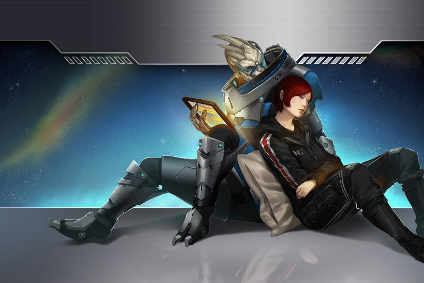 That's been my desktop background for a looooong time now :) · Mass Effect  ...