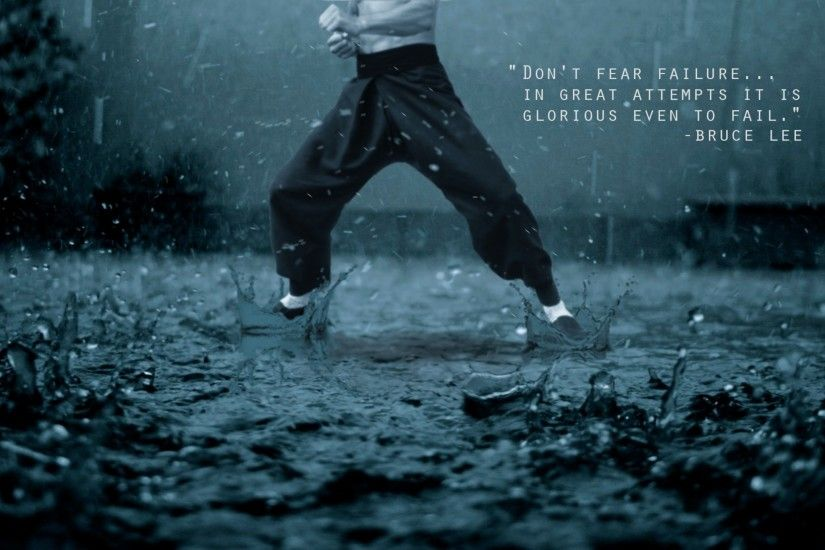 "in great attempts ; it is glorious even to fail"" Bruce Lee recovery quotes"