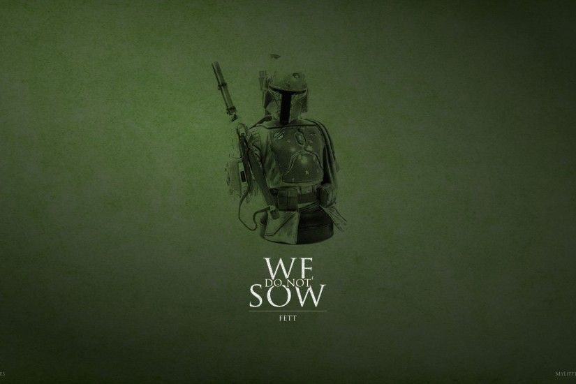 Boba Fett was a Mandalorian warrior and bounty hunter Wallpaper .