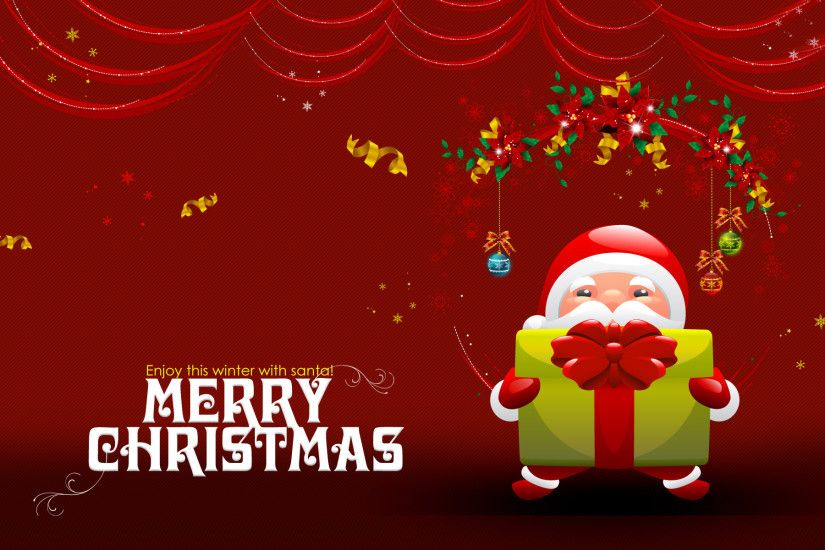 Download Free Merry Christmas Wallpaper Red 2016.