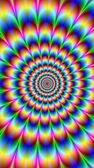 Bright psychedelic optical illusion pattern