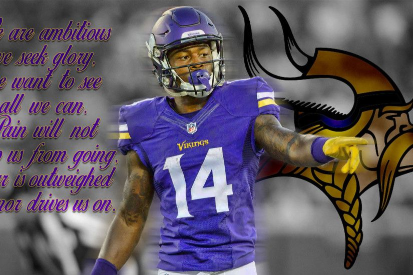 Happy New Year /r/minnesotavikings! I whipped up a Diggs wallpaper for you  guys! I'll have a couple more today as well! SKOL!