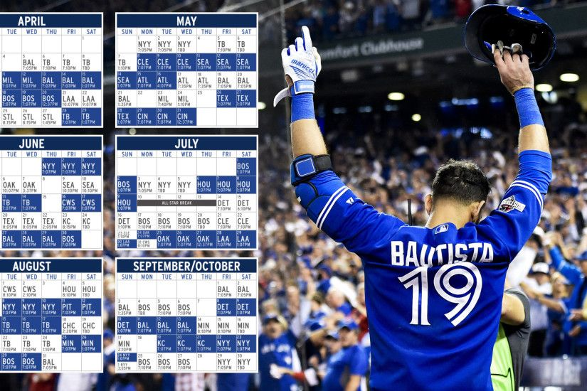 ... Toronto Blue Jays 2017 Schedule Backgrounds ...