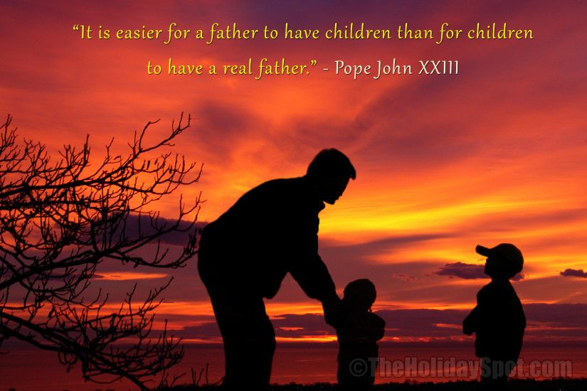 HD Father's Day Wallpaper with quotation