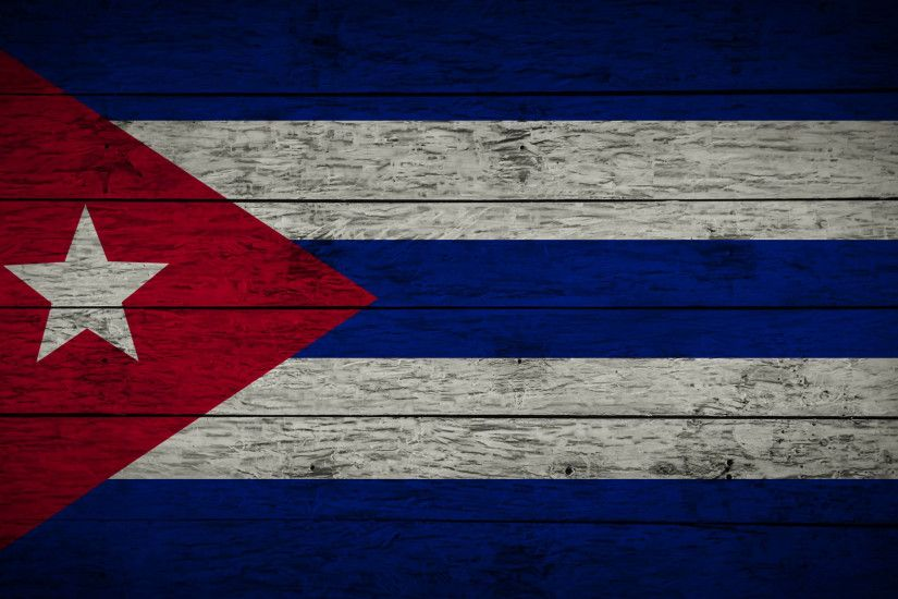 Painting Flag of Cuba on old wood boards With four different ways.  Animation of wooden grunge Cuban flag loop. Abstract flag background for  your text or ...