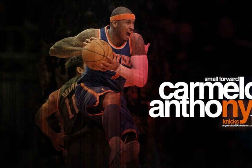 Carmelo Anthony Wallpaper - The Last Two Letters of His Name NY Are Painted  Orange,