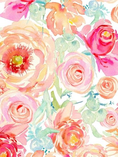 floral watercolor wallpaper - Google Search