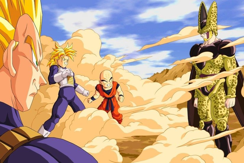 Dragon Ball Super Saiyan Cell Trunks Vegeta Krillin Perfect Anime
