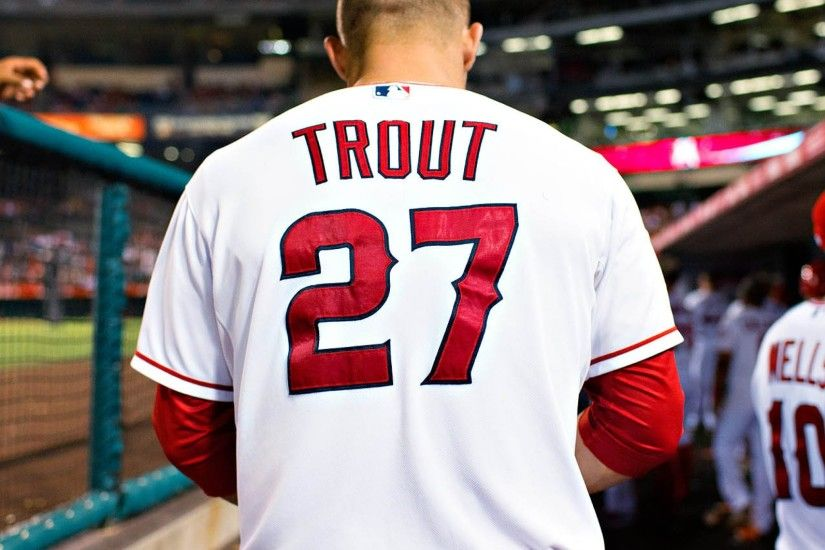 2048x2048 Wallpaper mike trout, baseball, los angeles angels of anaheim