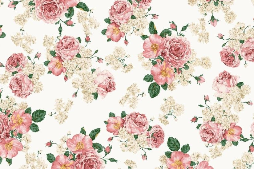 Wallpapers For > Pretty Flower Print Background
