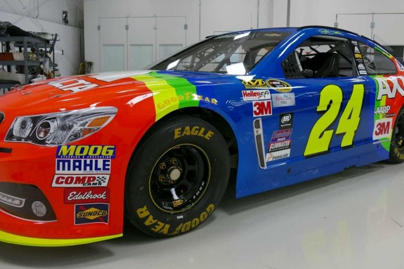 Jeff Gordon 2015 Rainbow Warrior Hero Card Front by WhiteHawkMedia .