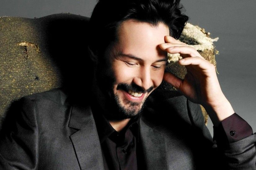 3840x2160 Wallpaper keanu reeves, actor, smile, jacket, beard