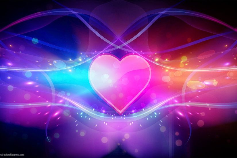 Colorful abstract wallpaper with pink love heart | HD Abstract .
