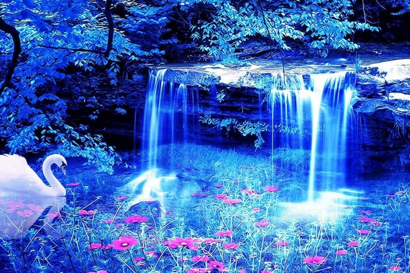 waterfall background 1920x1080 mobile