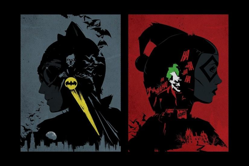 Batman DC Comics comics The Joker Harley Quinn Catwoman fan art wallpaper