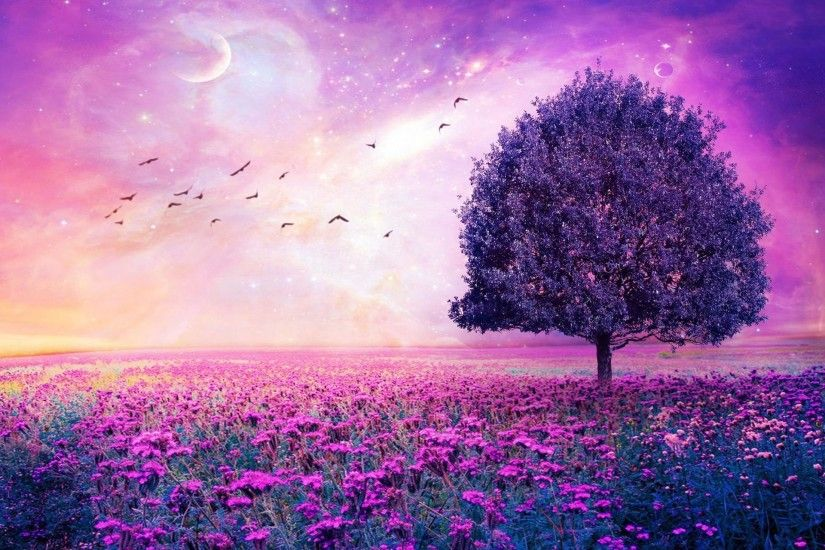 Purple Tree Blue Moon Fantasy Wallpaper HD Download | HD Wallpapers |  Pinterest | Blue moon, Hd wallpaper and Wallpaper
