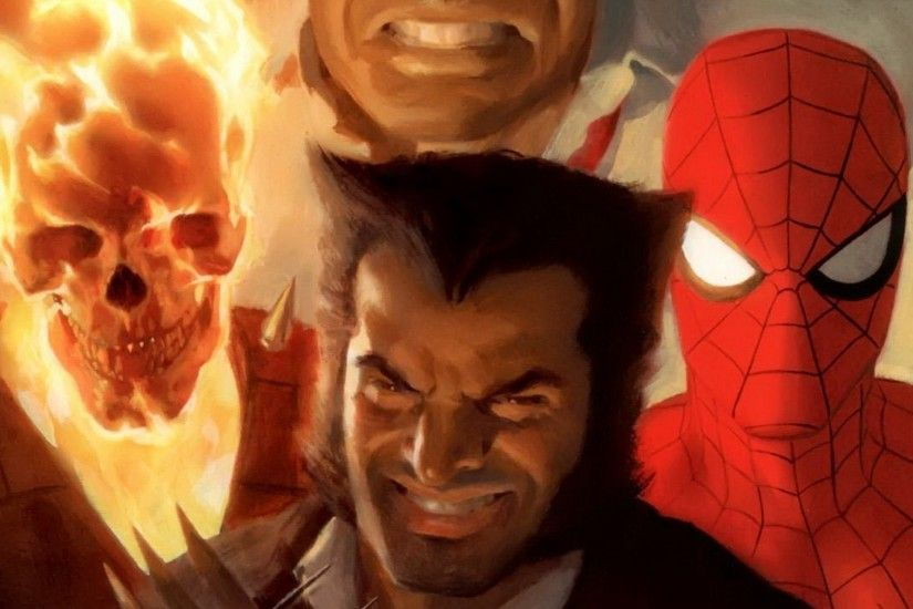 comics, Wolverine, Spider Man, Ghost Rider Wallpapers HD / Desktop and  Mobile Backgrounds