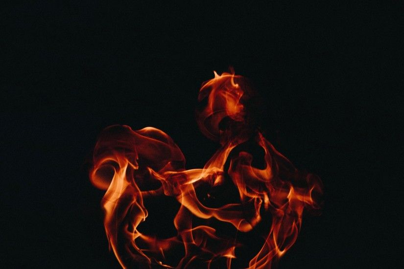 Preview wallpaper fire, flame, dark background 3840x2160