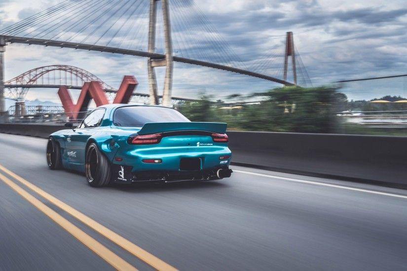 Mazda rx7 wallpaper mazda rx 7 mazda blue cars bridge rocket bunny voltagebd Image collections
