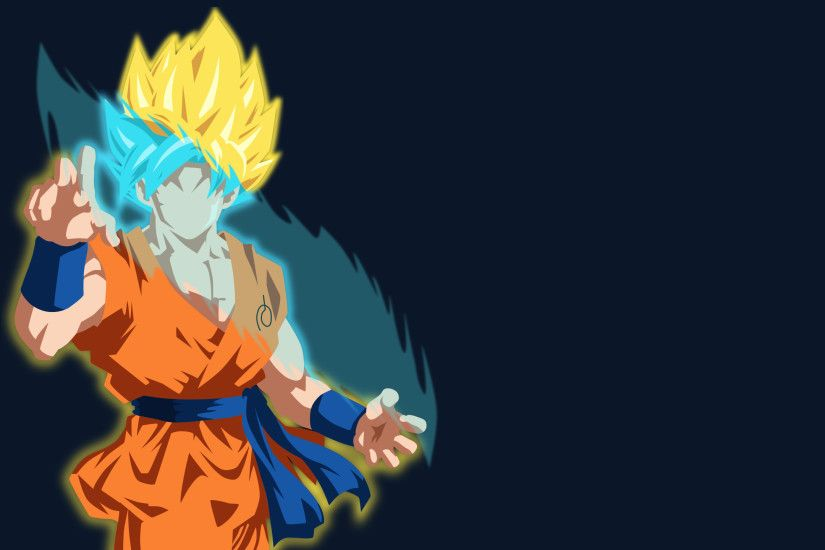 Anime - Dragon Ball Super Super Saiyan Super Saiyan Blue Goku Minimalist  Wallpaper