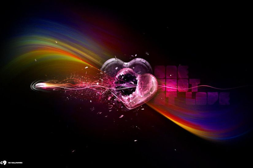 broken heart bullet one shot hearts glass hd wallpaper