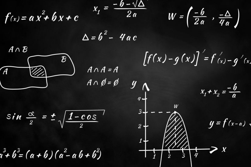 monochrome, Blackboard, Knowledge, Mathematics, Graph, Numbers, Science,  Equation, Formula, Simple Background Wallpapers HD / Desktop and Mobile  Backgrounds