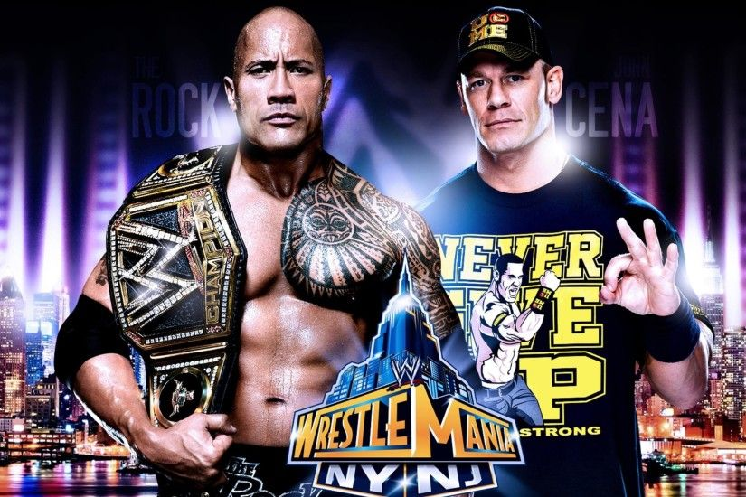 WWE john cena and rock