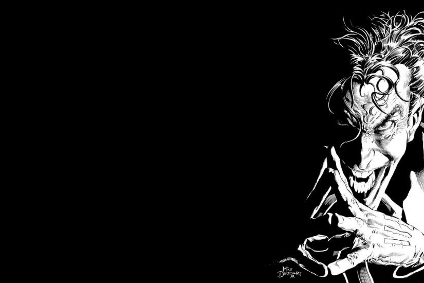 Joker Black And White Wallpaper