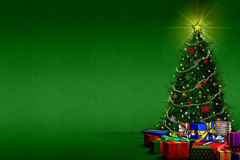 Christmas tree & gift boxes