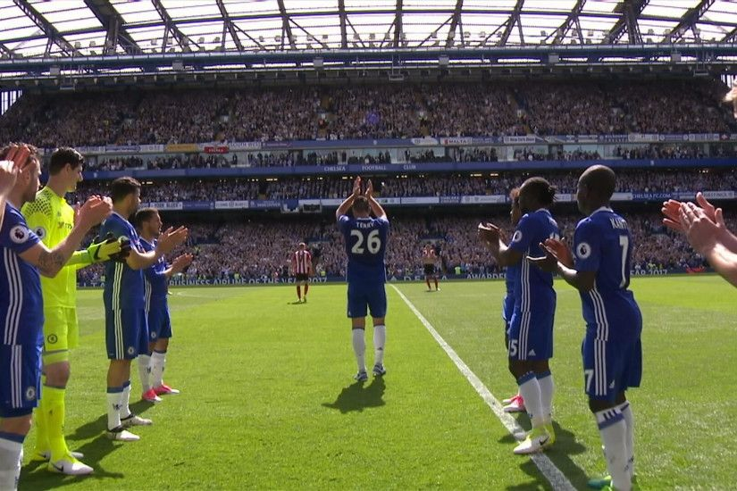 Watch the moment Terry was substituted, which led to a guard of honour for  the Chelsea captain as he left the Stamford Bridge pitch