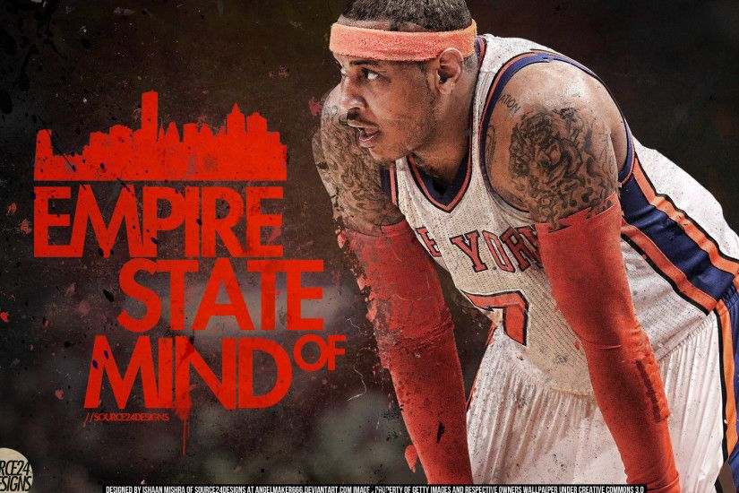 ... Carmelo Anthony New York Knick by IshaanMishra
