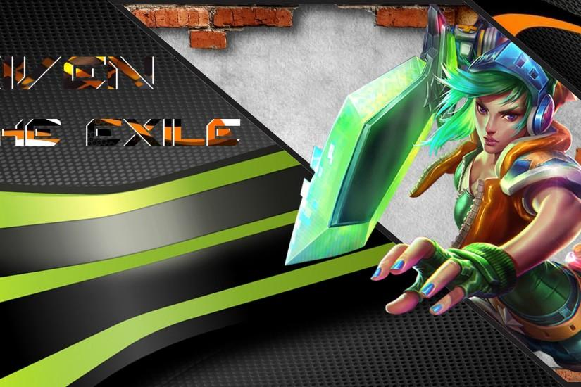 riven arcade skin custom wallpaper by f0x f0x watch fan art wallpaper .