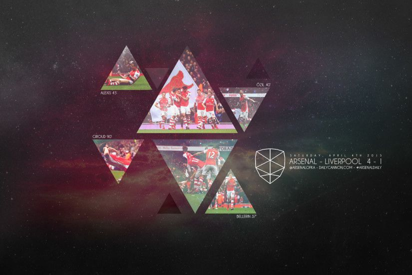 Arsenal smash Liverpool: Wallpaper, headers and covers