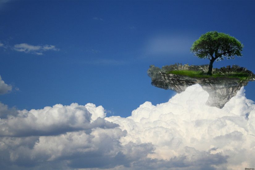 hd wallpapers floating island -#main