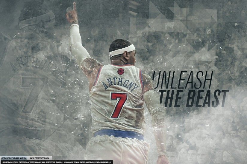 Carmelo Anthony 'Unleash The Beast' Wallpaper.  CarmeloTheBeastSource24Posterizes_2560x1440