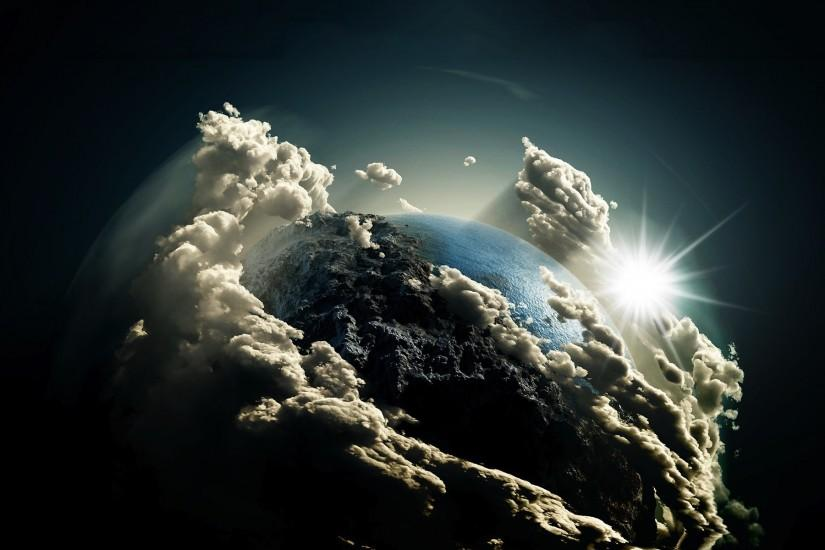 Earth clouds art