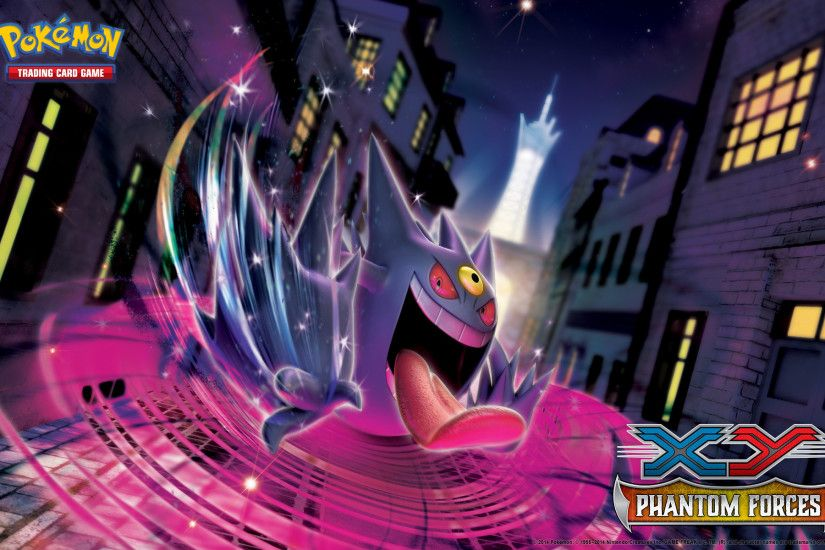 Pokémon TCG: <em>XY—Phantom Forces</em> Gengar Wallpaper