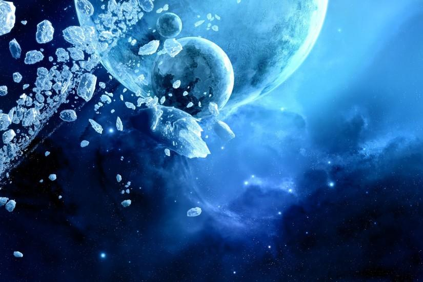 Blue Space Wallpaper 5751