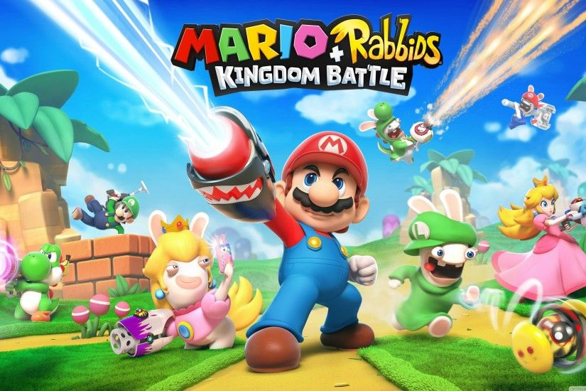 Mario Rabbids Kingdom Battle 2017 game HD Wide Wallpaper for Widescreen