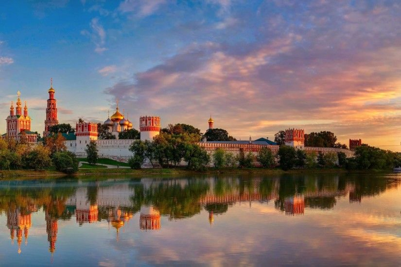 Preview wallpaper moscow, novodevichy convent mother of god of smolensk,  summer 1920x1080