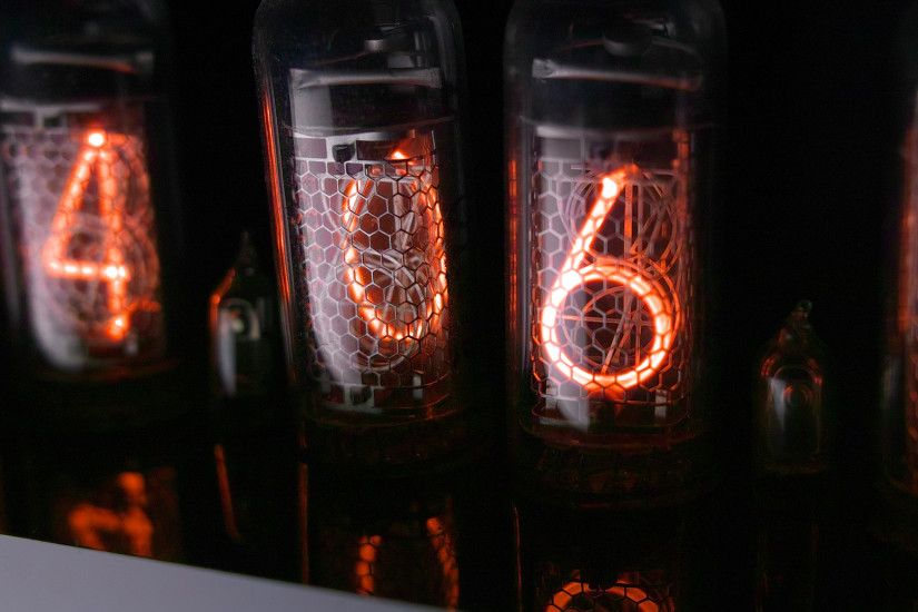 vacuum tube display, aka nixie-tube [1920x1080] ...