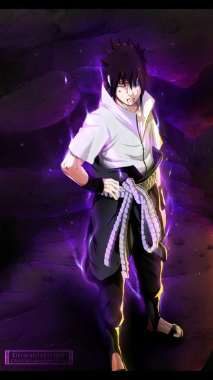 IPhone 5S, 5C, 5 Naruto Wallpapers HD, Desktop Backgrounds ... Sasuke ...