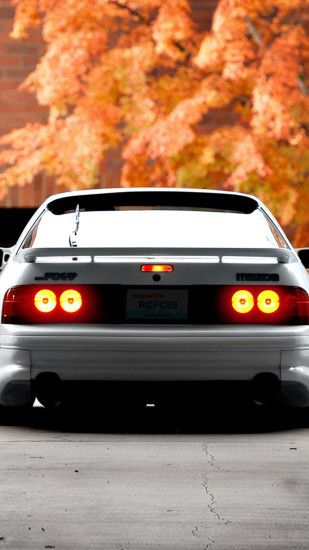 White mazda rx7 Wallpaper