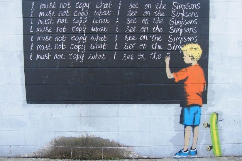 simpsons+street+art | Banksy street art wallpaper background
